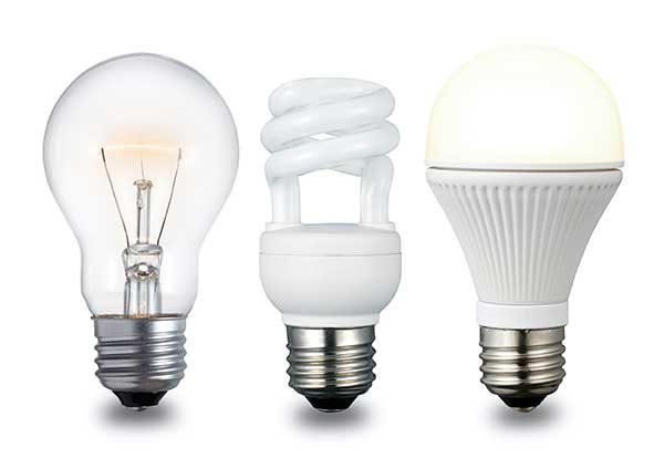 Energy-Efficient CFL Incandescent Light Bulbs - LED image