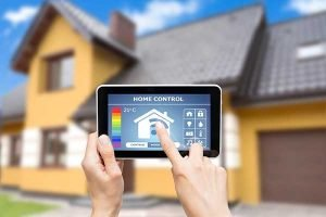 Programmable Thermostat Smart Thermostat | image using phone for bills