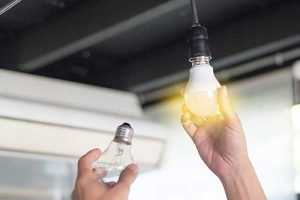 Changing Lighbulbs Energy Efficiency Photo
