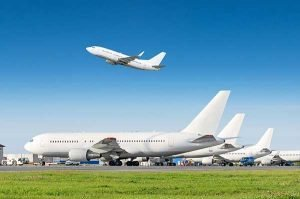 Energy News   U.N. Airline Emissions Reduction   Airplane Taking off
