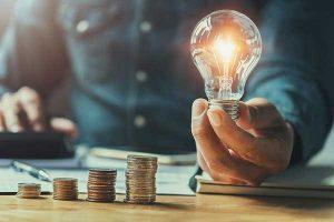 Light Bulbs Efficiency for Saving Money Photo