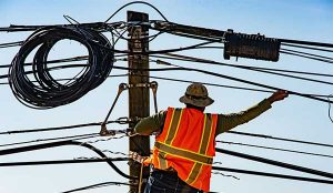 Energy Transition | Worker on Powerlines