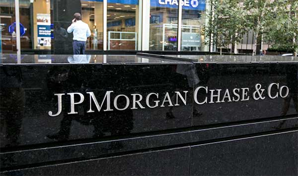 Green Business and Oil Wells Financing | JP Morgan Sign