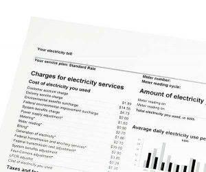 Indexed-Rate Energy Plans | Image of Electricity Bill