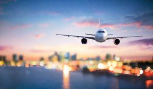 U.S. carbon emissions Drop | image of airplane