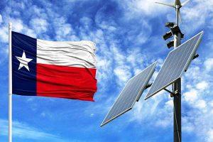 Power To Choose Texas Flag Illustration